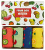 A box of fruit themed socks. Moustard Socks are very comfortable and durable. Click to view the full collection of boxed underwear.