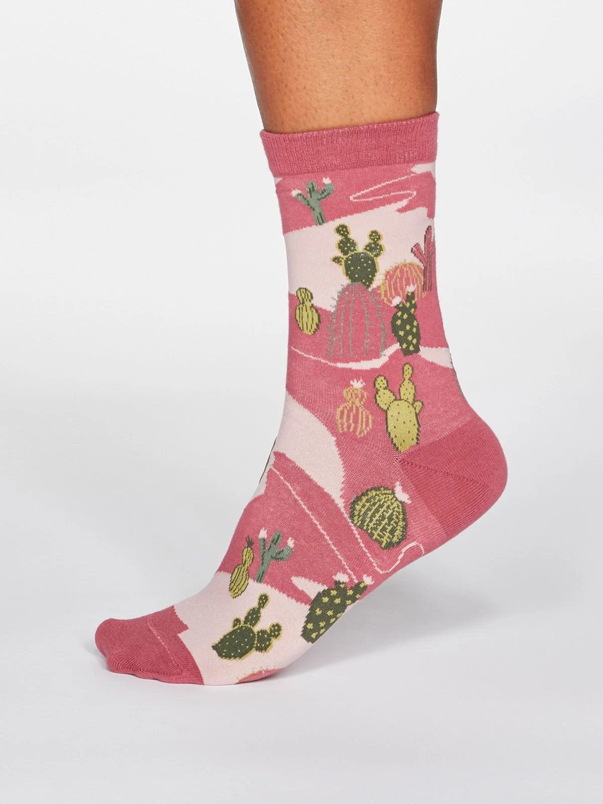 Cactus Print Bamboo Blend Socks Various Colours