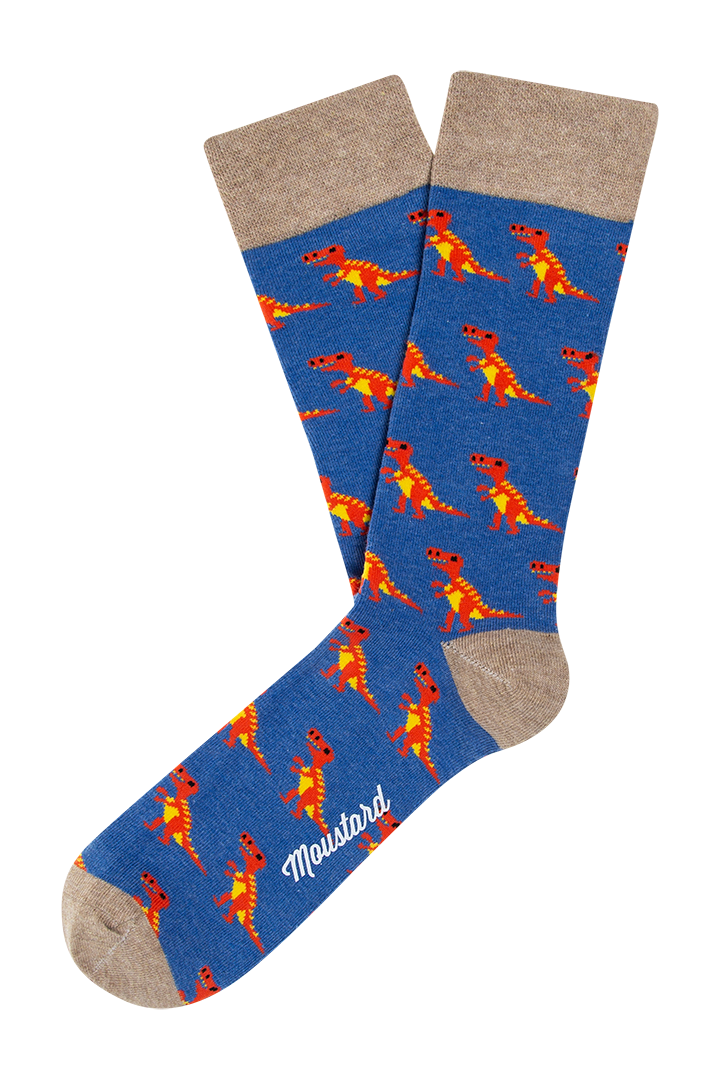A box of dinosaur themed socks. Moustard Socks are very comfortable and durable as they have been knitted with the finest combed cotton. Click to view full collection of boxed underwear and cotton underwear for women.