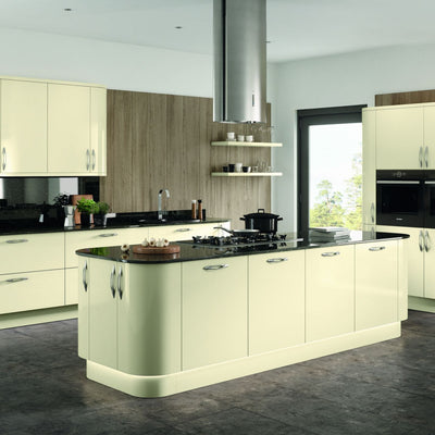 Vivo Gloss Ivory Kitchen Doors