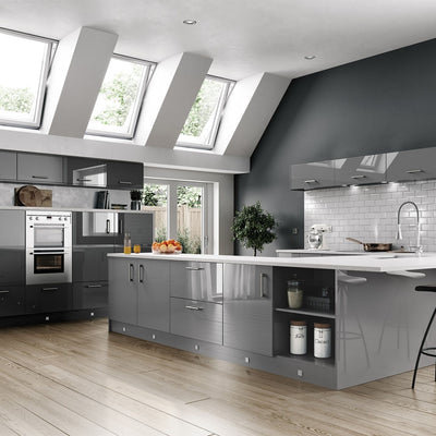 Vivo Gloss Dust Grey Kitchen Doors