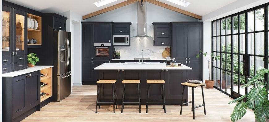 Cambridge Indigo kitchen door range from Definitive Kitchens
