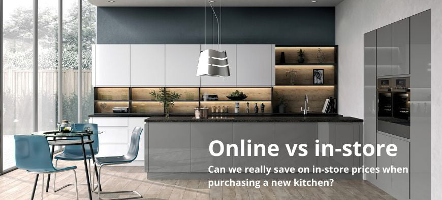 online vs megastore, compare kitchen prices