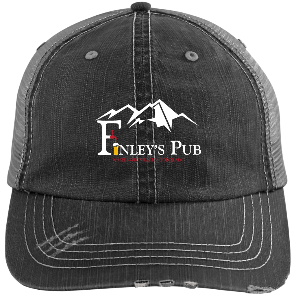 Finley's Pub Distressed Unstructured Trucker Cap
