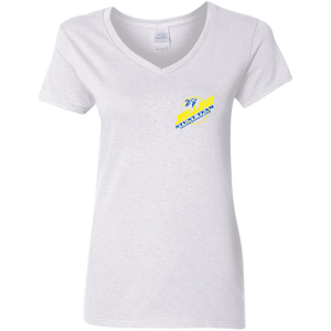 G500VL Ladies' 5.3 oz. V-Neck T-Shirt