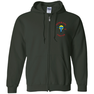 Veterans Forever goose logo with black 4500x5400 G186 Zip Up Hooded Sweatshirt