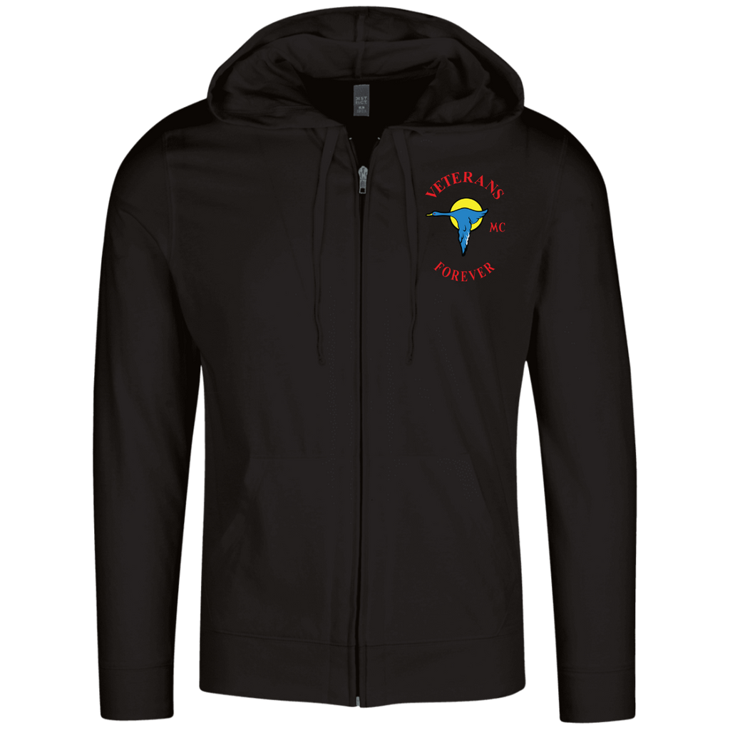 Veterans Forever goose logo with black 4500x5400 DT1100 Lightweight Full Zip Hoodie
