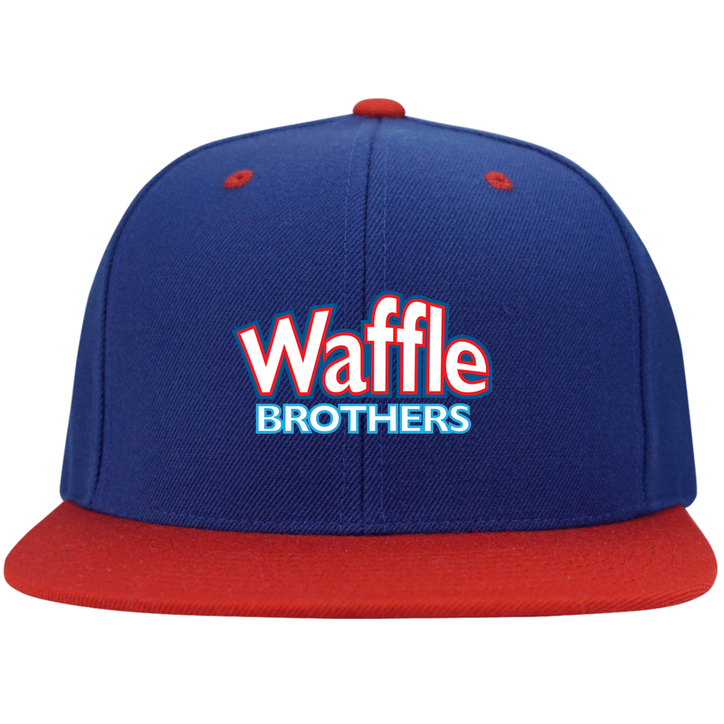 Waffle Brothers Flat Bill High-Profile Snapback Hat