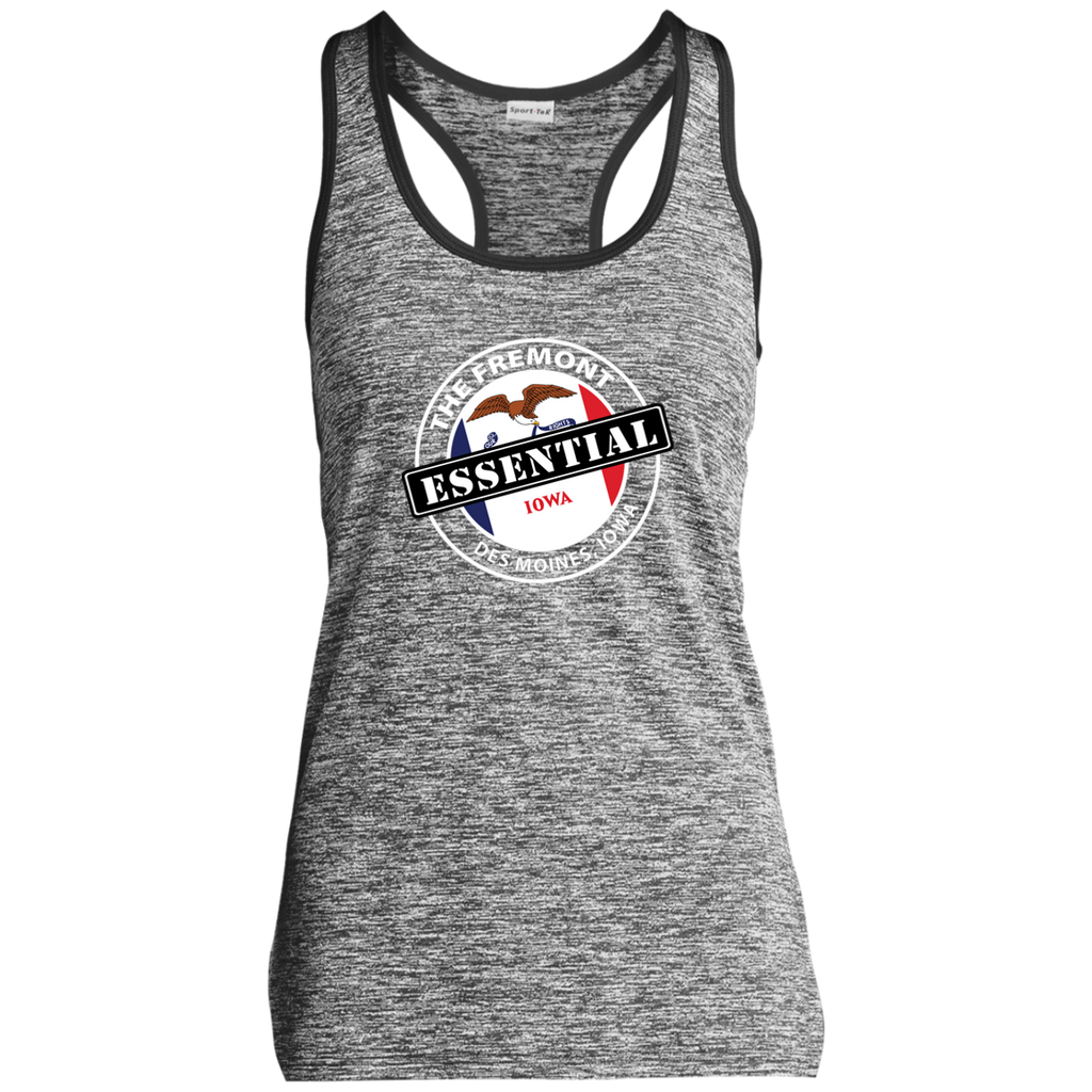LST396 Ladies' Moisture Wicking Electric Heather Racerback Tank
