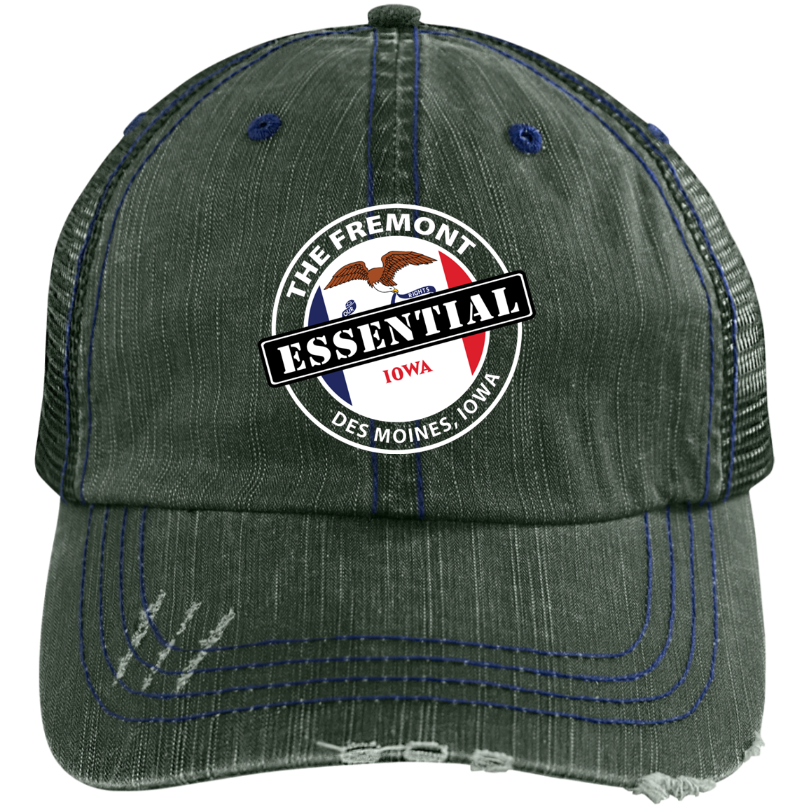 6990 Distressed Unstructured Trucker Cap