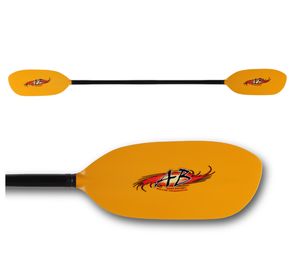 Aqua-Bound Shred Fiberglass Whitewater Kayak Paddle 198cm 30deg Used