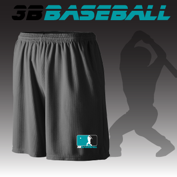 3B Baseball Mesh Shorts with Pockets