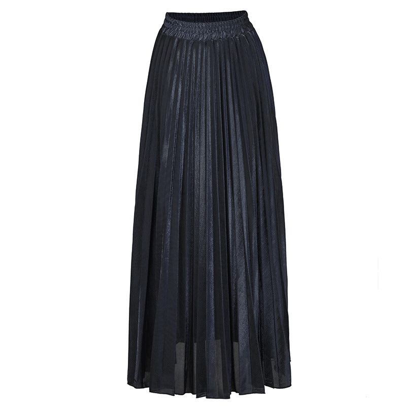 Four Seasons Pleated Hemiskirts Large Sizes High Waists Beach Skirts
