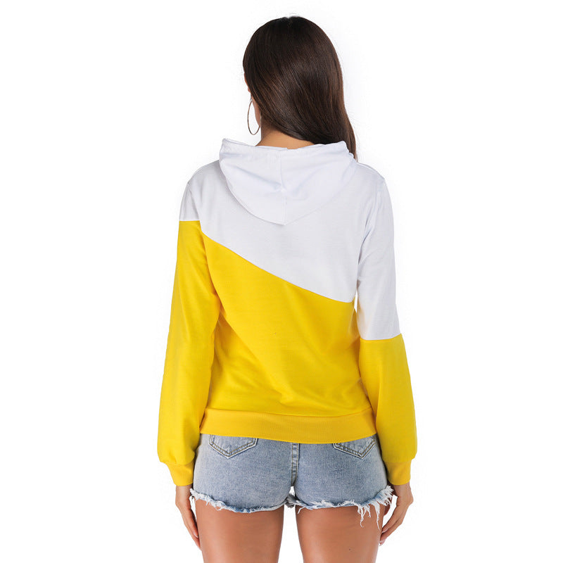 Autumn/Winter Hooded Long-length Guard Women Stitched Bump Swear Hoodies