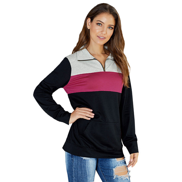 Fall casual sweatshirt loose-sleeved large size top