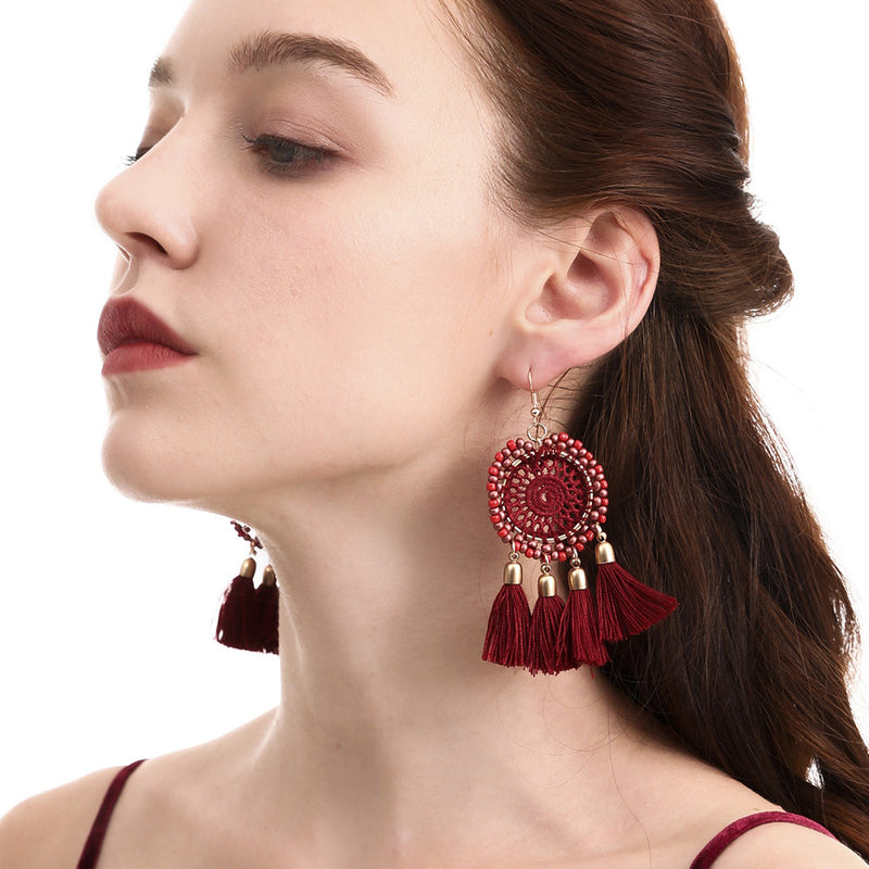 Bohemian Tassel Earrings National Style Shop Dream Net Fashion Accessories