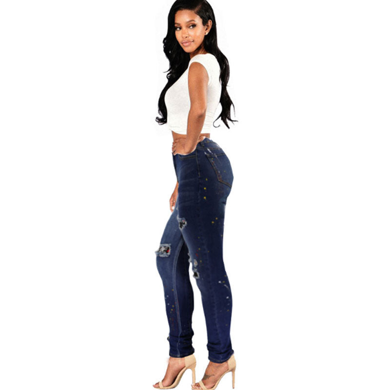 2019 hot sale hole jeans
