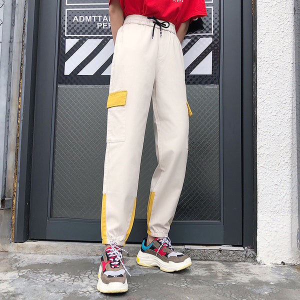 Women Harajuku Streetwear Ladies Pants Casual Big Pocket Pants High Waist Loose Trousers Womens Trousers Pantalones Mujer