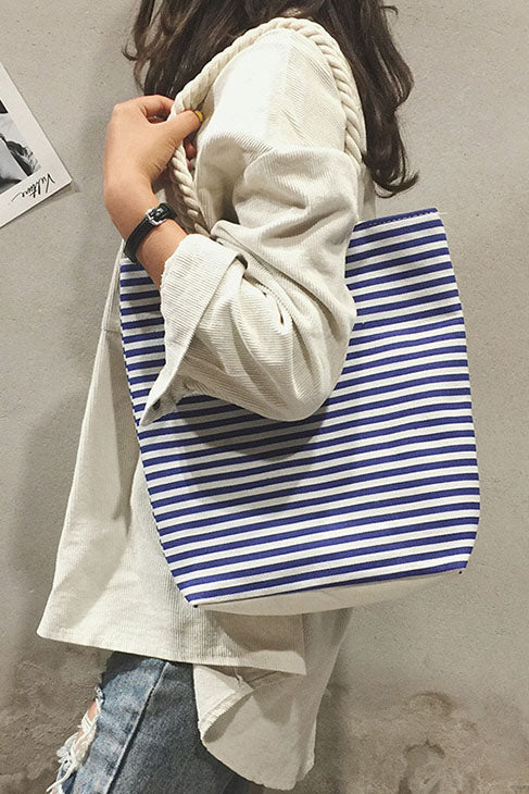 Shopy7 Lady One Shoulder Bag Fashion Hemp Rope Hand Carrying Canvas Bag
