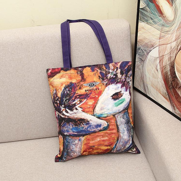 Shopy7 New Canvas Bag for Arts Students One-shoulder Handbag