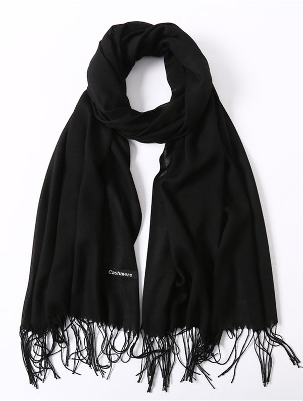 Warm Solid Autumn/Winter Long Scarf Women Shawls