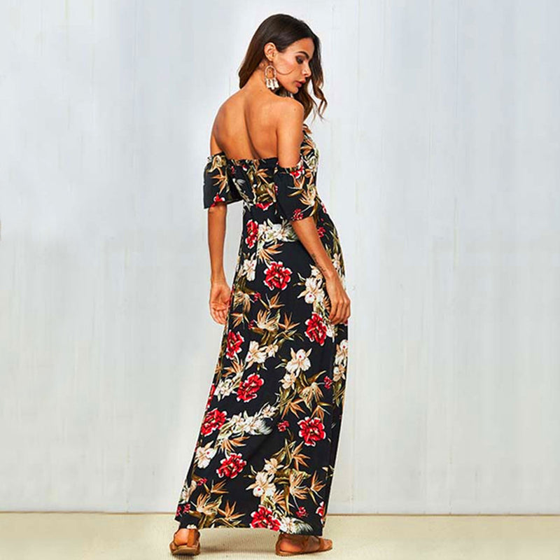 New Arrival Bohemian Women's One-shoulder Fashion Dress