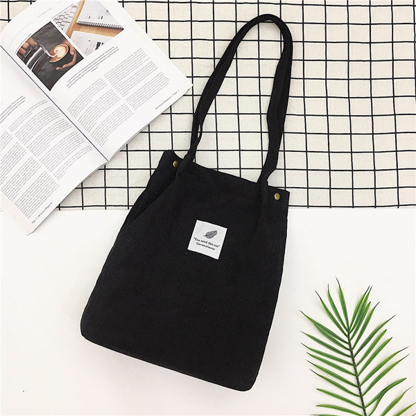 Shopy7 2019 Autumn/Winter Art Small Fresh Velvet Canvas Bag