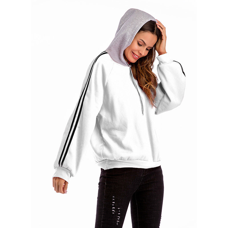 Colorblock Hooded Sweatershirt Student Loose Large Size Hoodies