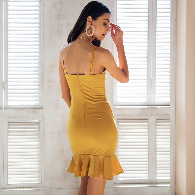 Women Sexy New Strap Flounced Fishtail Skirt Fashion Dress For Sale