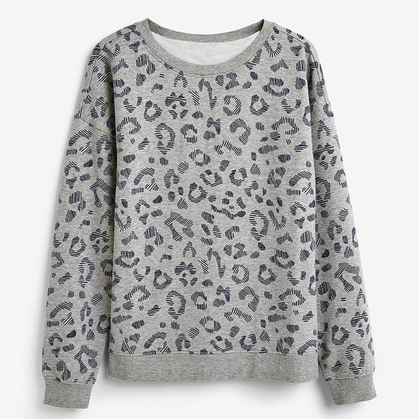 Autumn Women Sweatshirt Casual Long Sleeve Print Pullover Hoodie Loose O Neck Hoodies Fashion Leisure Tops