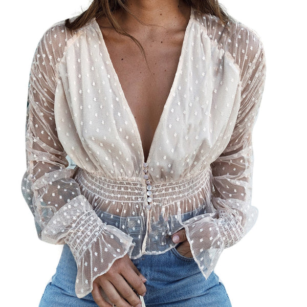 Women's shirt sexy lace