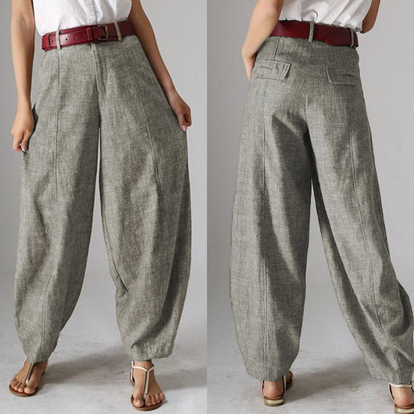 Casual Baggy Harem Pants Women's Autumn Trousers  2020 Vintage Front Zipper Pantalon Plus Size Cropped Pant Woman Palazzo