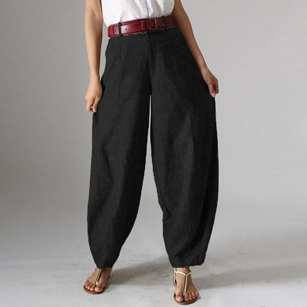 Casual Baggy Harem Pants Women's Autumn TrousersVintage Front Zipper Pantalon Plus Size Cropped Pant Woman Palazzo