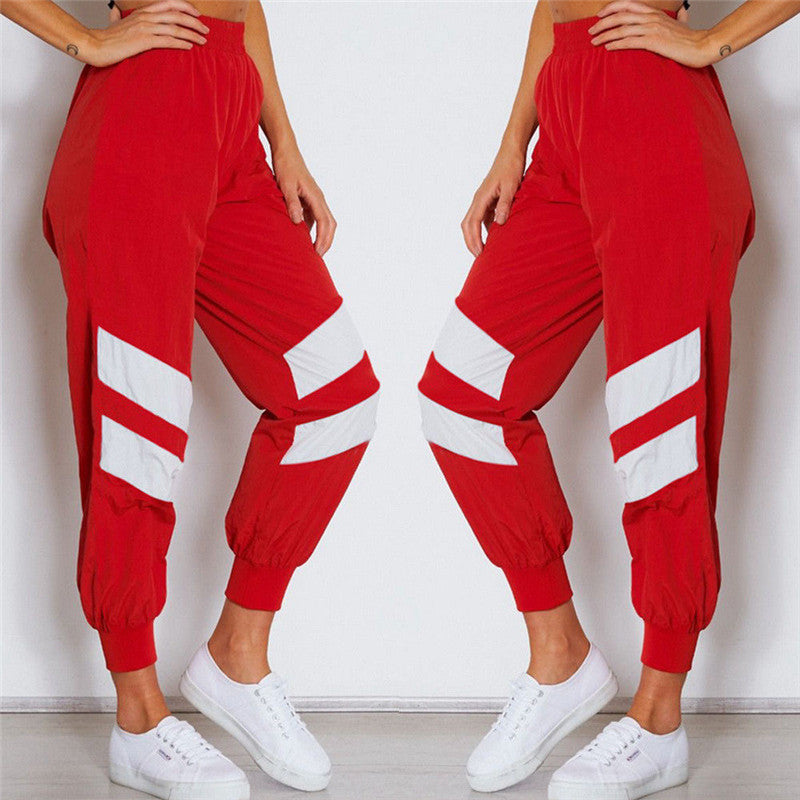Fashion Casual Loose Geometric Women Sweatpants Jogger Dance Harem Pants Sports Baggy Slacks Trousers Summer Autumn Clothes