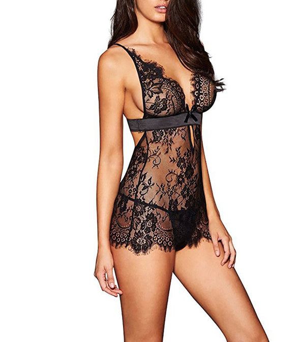 Sexy Lingerie Solid Color Flower Lace Sexy Bra Set Comfortable Sexy Pajamas Ultra-thin Breathable Feminina Lingerie