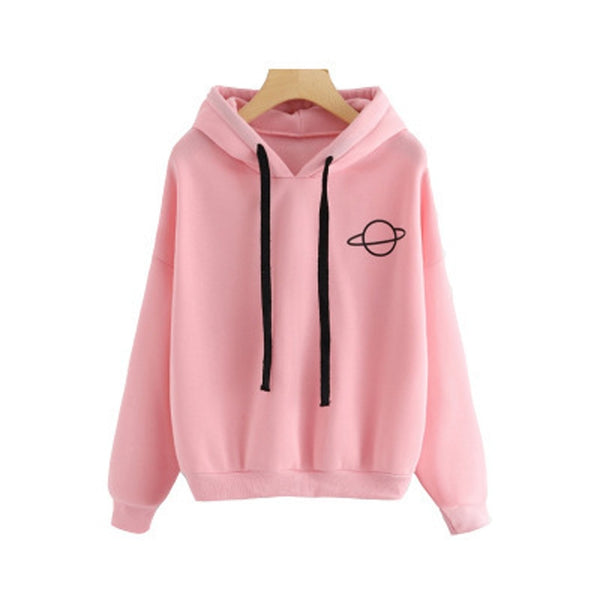 winter Casual Polyester women Hoodies Sweatshirts long sleeve yellow Pullovers loose Hooded Female thick coat