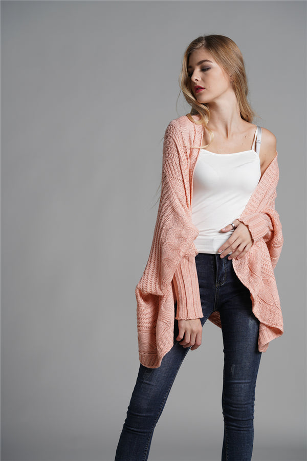 Sweet Pink Fashion Female Cape Cardigan Sweater