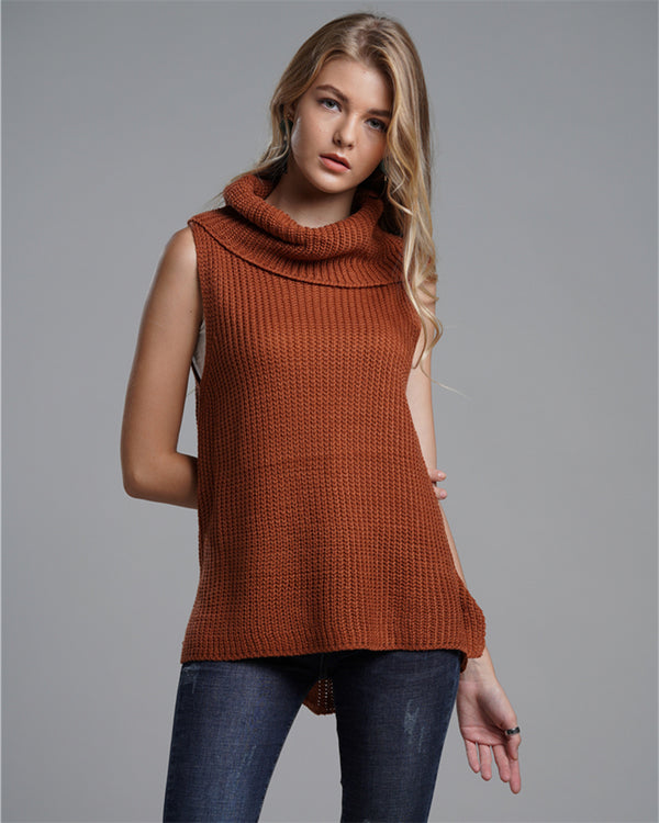 High Recommend Loose Solid Turtleneck Fashion Women Sweaters