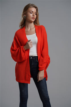 High Quality Fashion Solid Color Cardigan Sweater Woman's Coat
