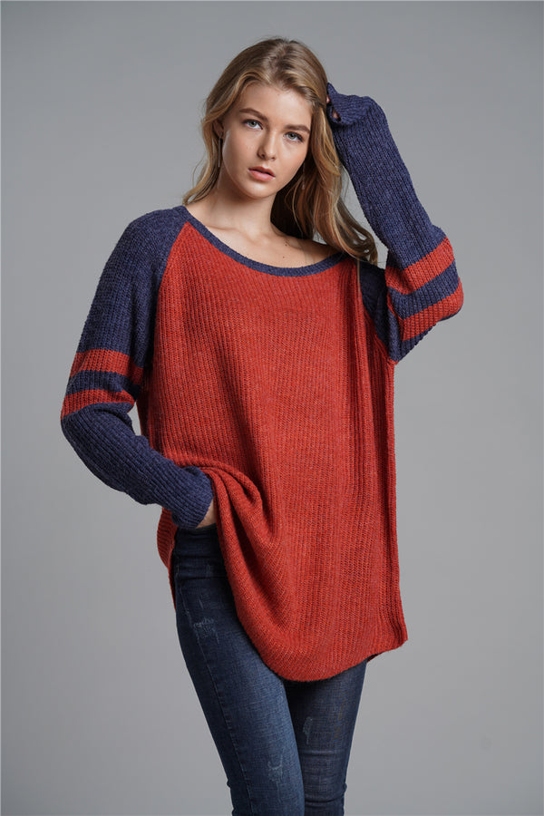 New Arrival Women Fashion Long Loose Pullover Sweaters