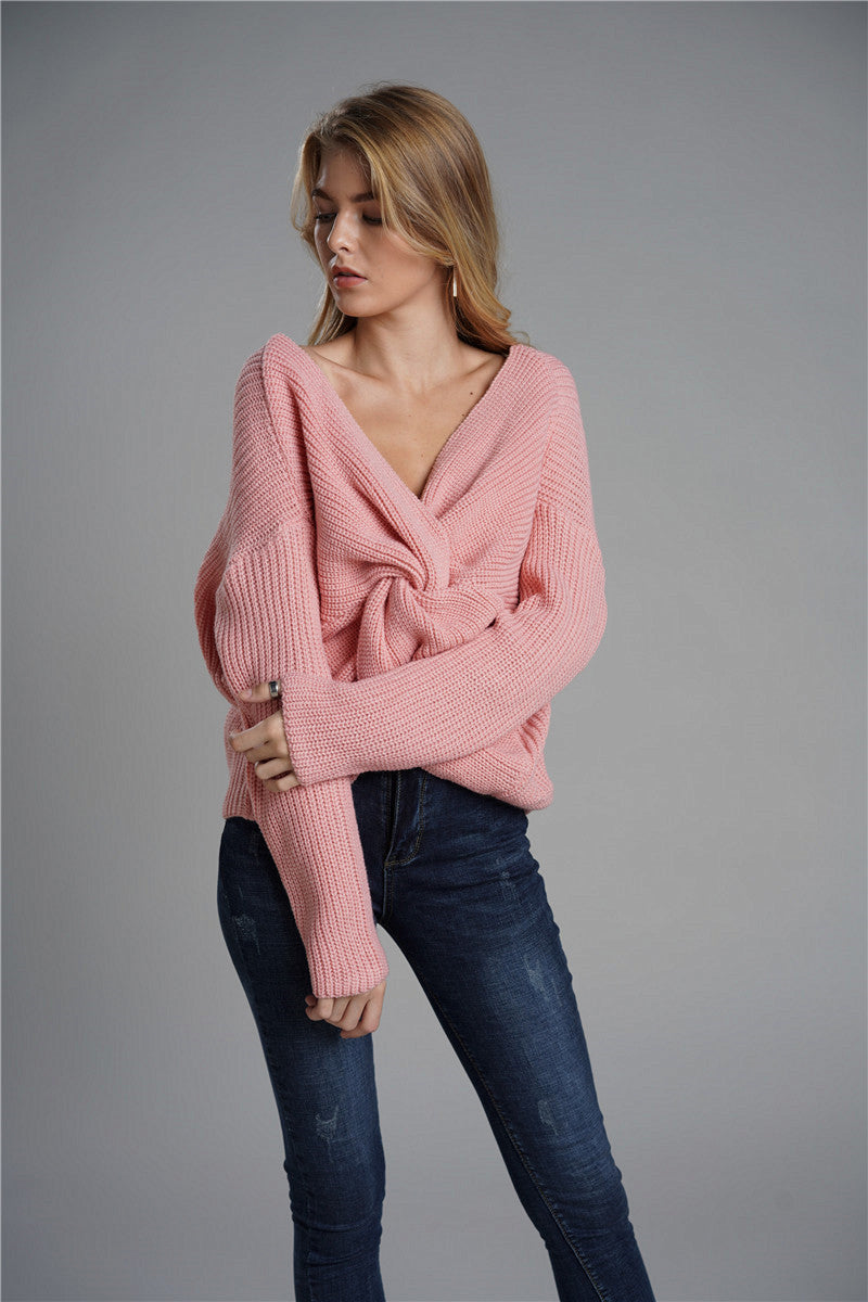 2019 New Arrival Turtleneck Pullover And Cross-back Women Sweaters