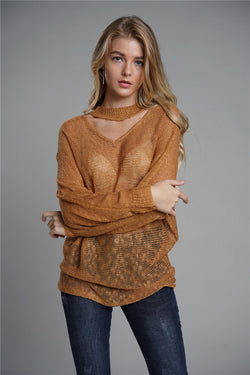Autumn Winter Fashion Loose Chunky Women Pullover Sweater Tops