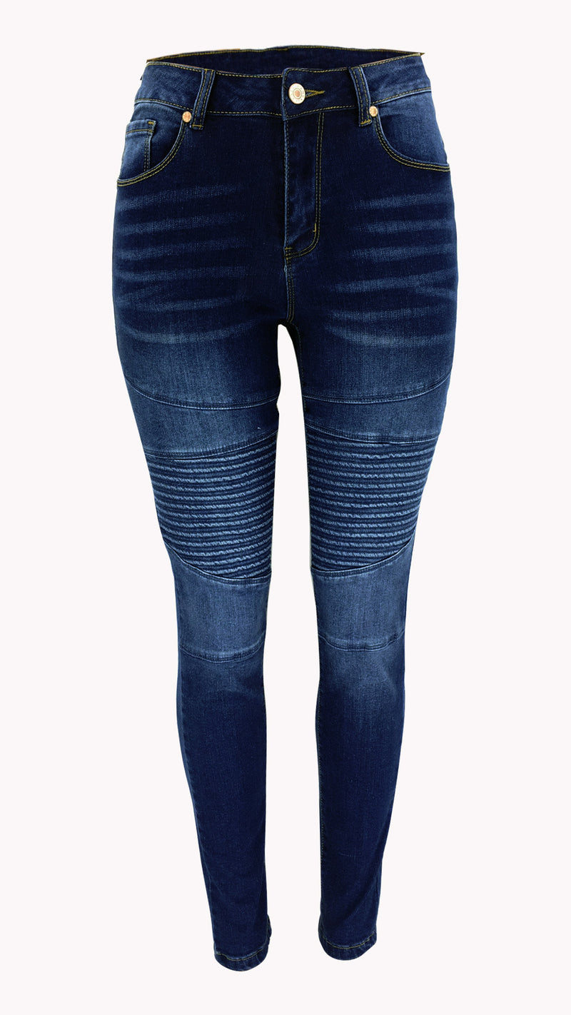 Locomotive Elastic Denim Pants Classic Blue Jeans