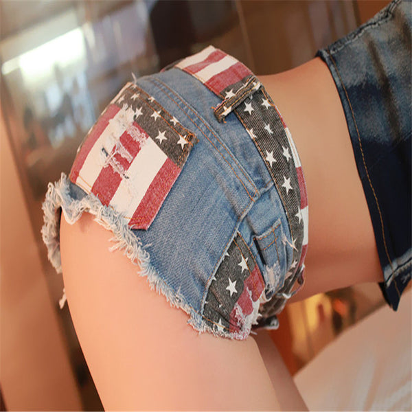 European and American Sexy Beach Ladies Jeans Shorts