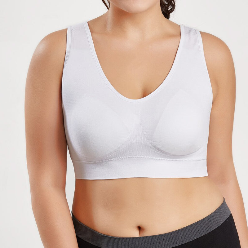 Sweatshirt vest Women Pure Color Plus Size Ultra-thin Large Bra Sports Bra Full Bra Cup Tops Friends Sweatshirt Tank Tops