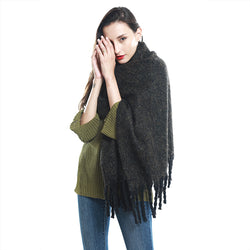 New Fashion Winter Contracted Style Large Tassel Scarf