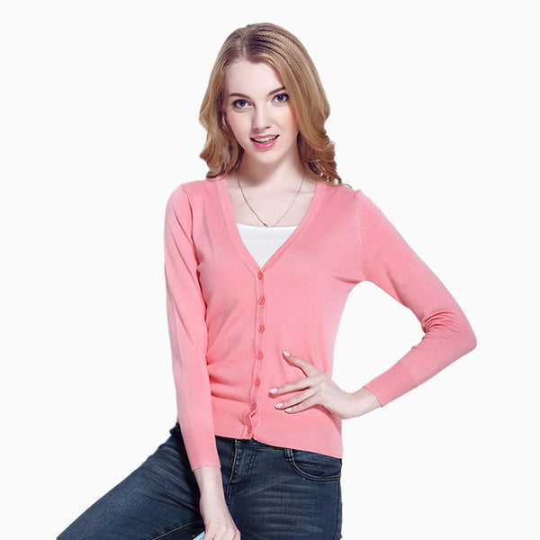 2019 Women's 9 Colour Knit Outwear Cardigan Swearter