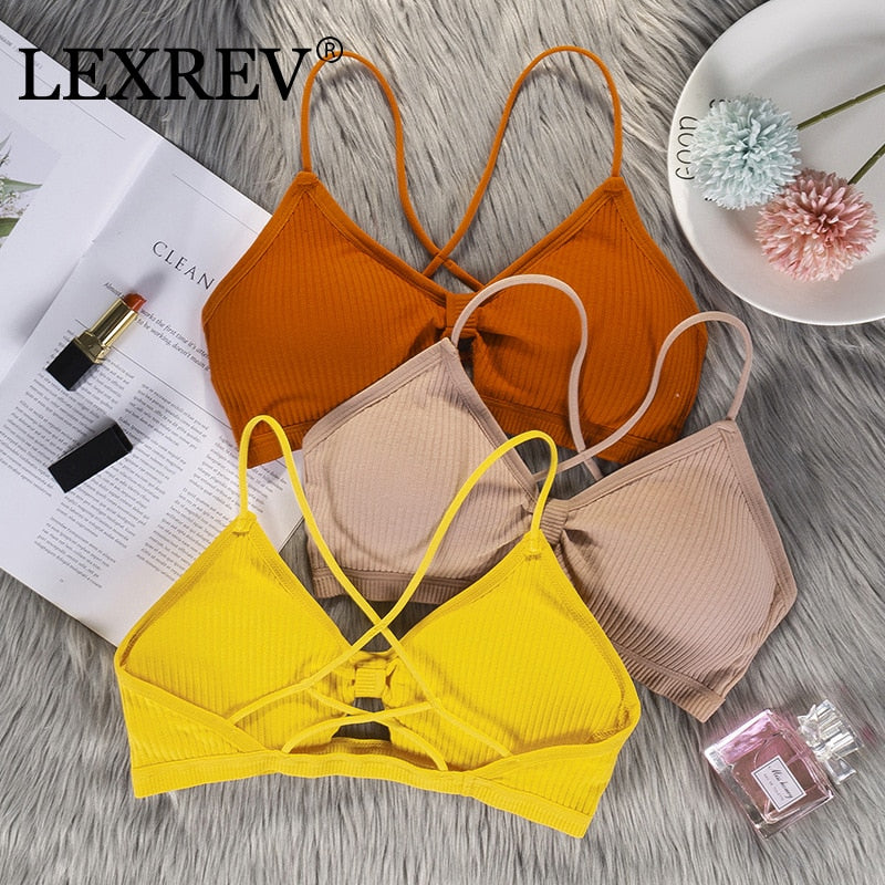 Halter Bandage Sexy Bralette Crop Top Women Hollow Out Elegant Tank Tops Tees Sleeveless Short Tee Shirt High Street Party
