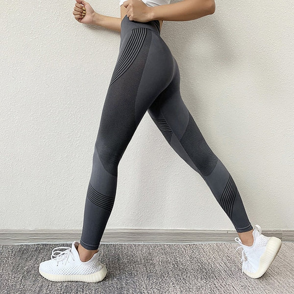 Women Leggings High Waist Peach Hips Gym Leggings Quick-drying Sports Stretch Fitness Pants