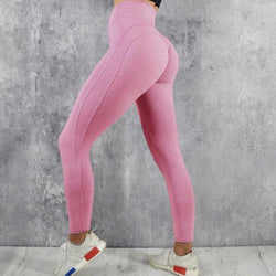 Women Slim Leggings Jogging Solid Leggings High Waist Elastic Sportwear Sexy Female Pants